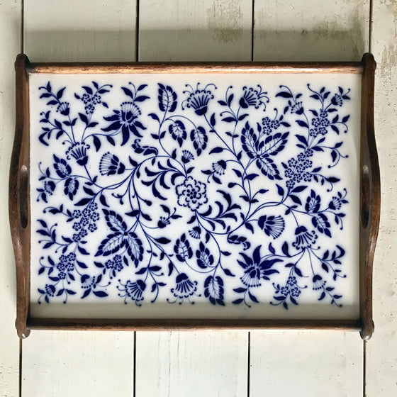 Vintage Meissen Blue and White Porcelain Tray