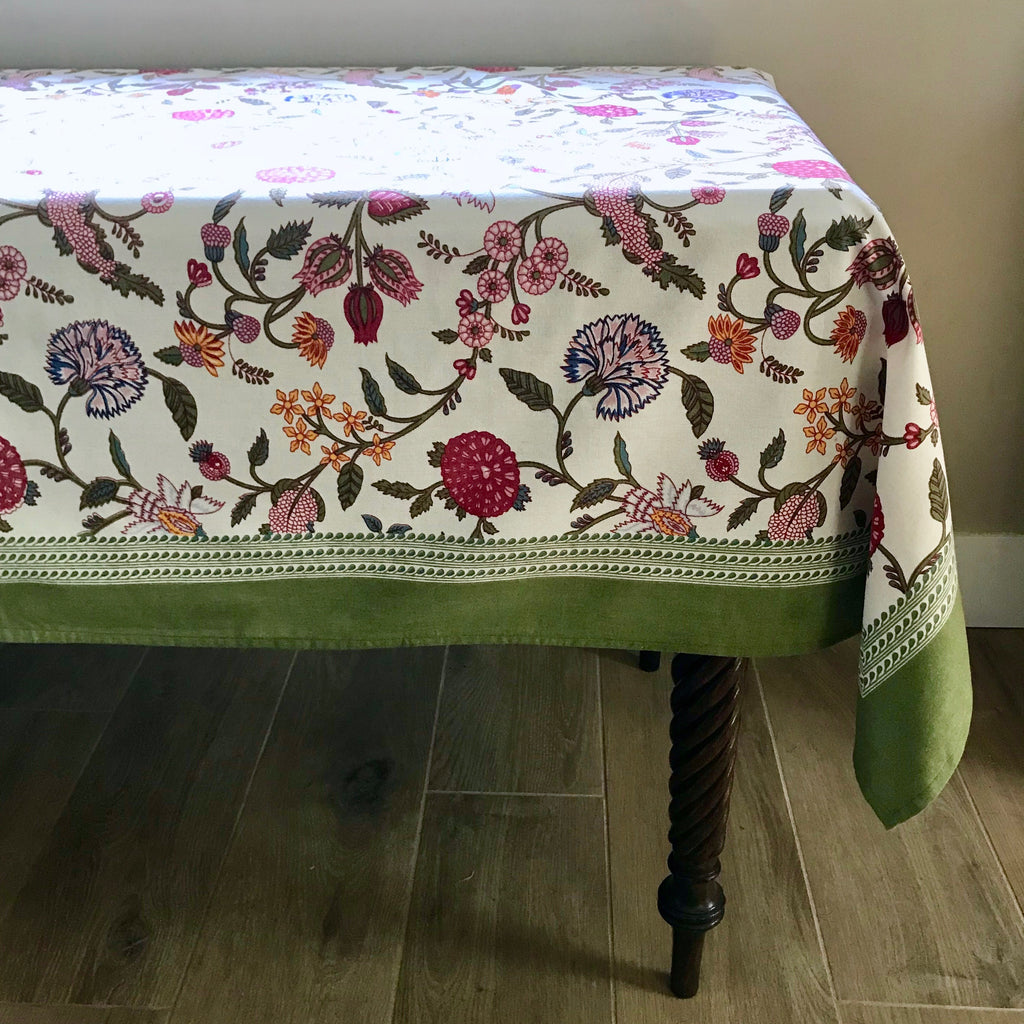 Saffron Berry Cotton Tablecloth