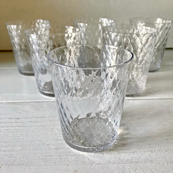 Venetian Glass Tumblers - Clear