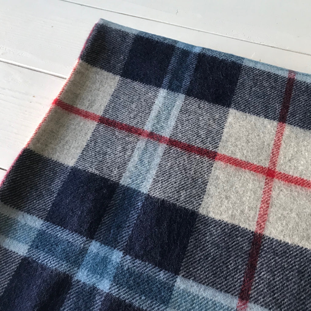 Scottish Tartan Throw - Douglas Navy