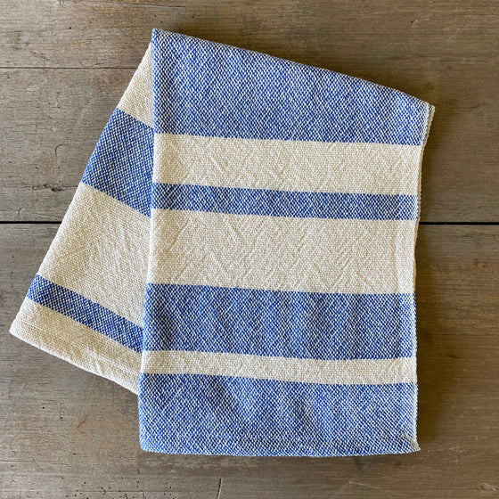 Heirloom Cotton Dish Towel in Royal Stripe