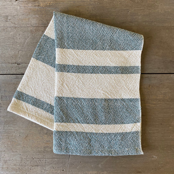 Heirloom Cotton Dish Towel in Hunter Stripe