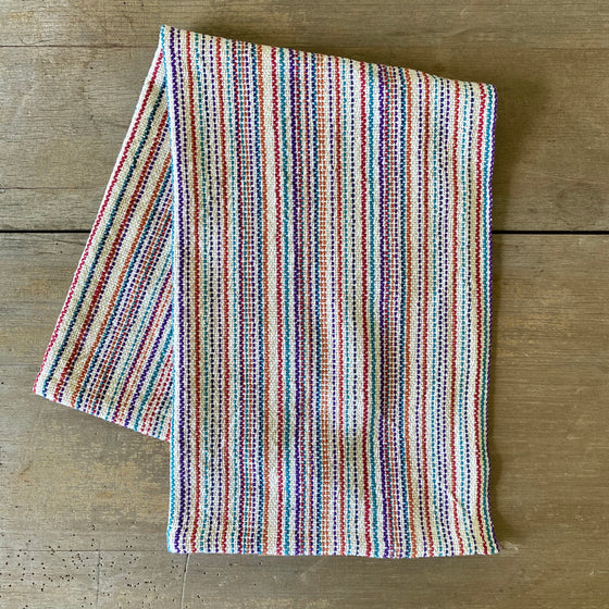 Heirloom Cotton Multi-Stripe Dish Towel in Colonial