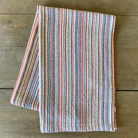 Heirloom Cotton Multistripe Dish Towel in Americana