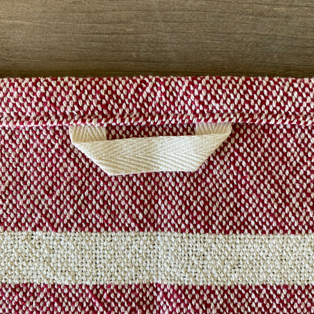 Heirloom Cotton Dish Towel in Wine Stripe
