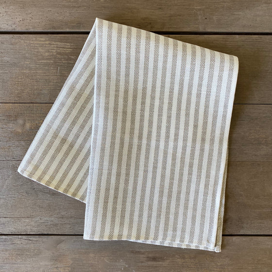 Natural and White Stripe Linen Dish Towel