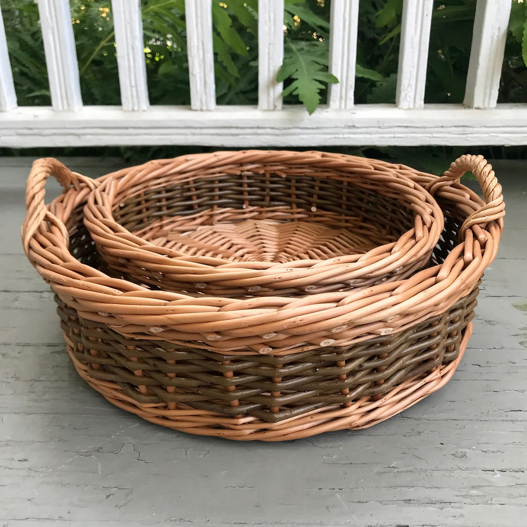 "11"" and 14"" Fruit Baskets in Steamed Willow"