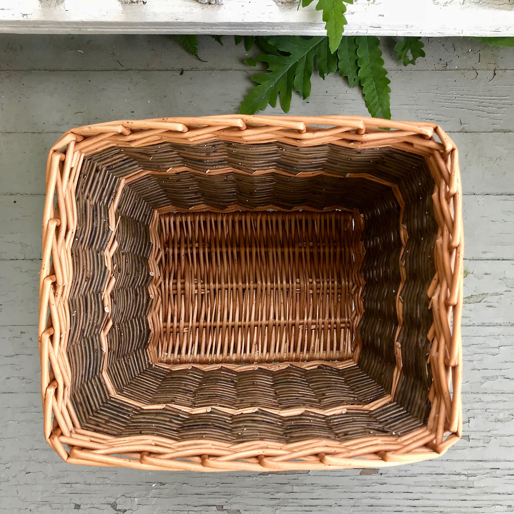 Scottish Rectangular Willow Waste Basket
