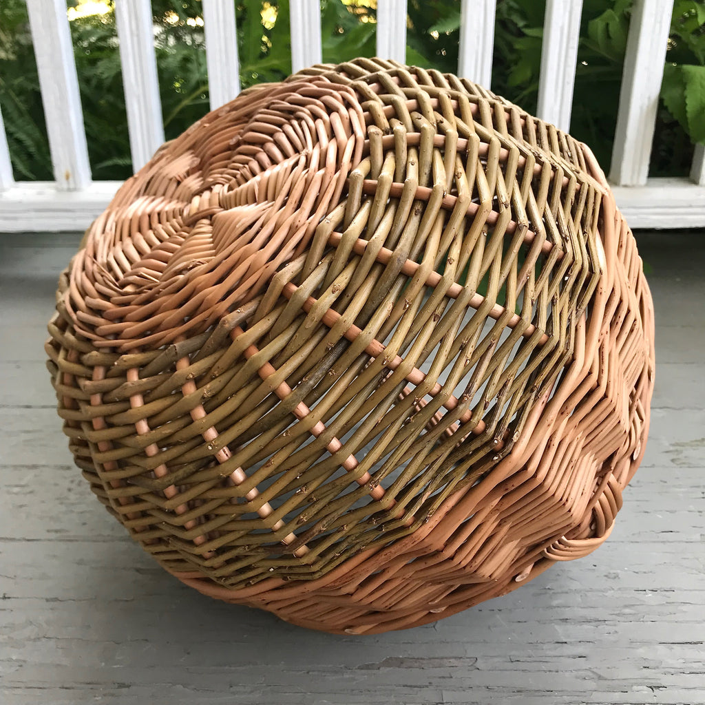 Scottish Round Willow Shopper Basket