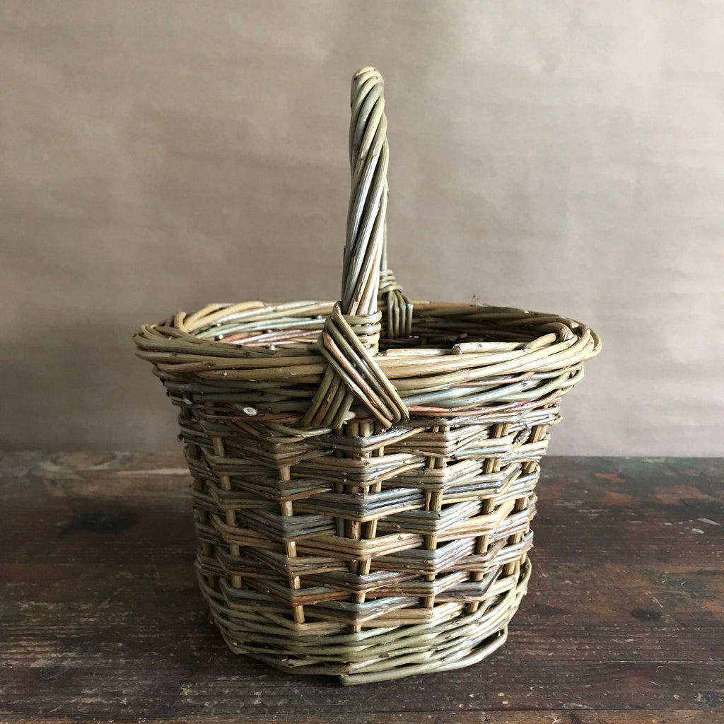 French Willow Peg Basket