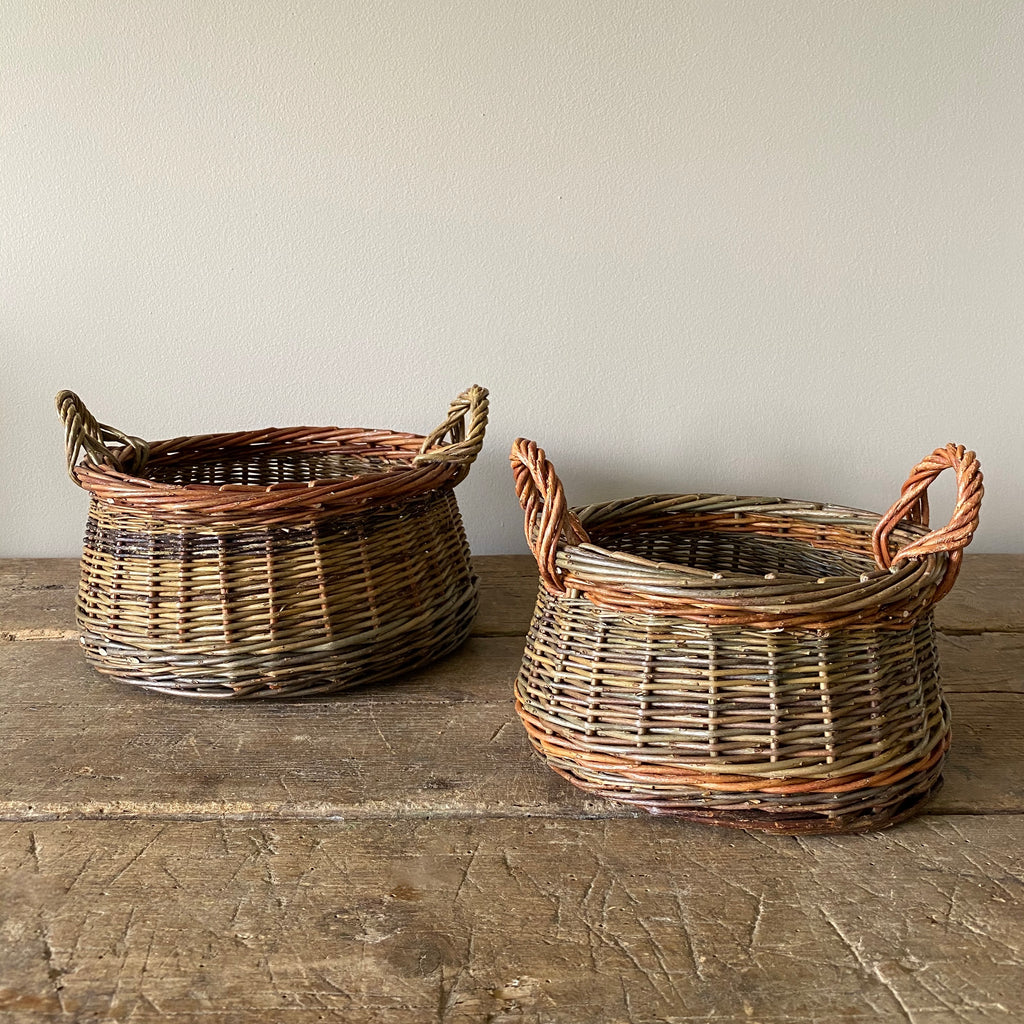 Large and Small Walnut Baskets