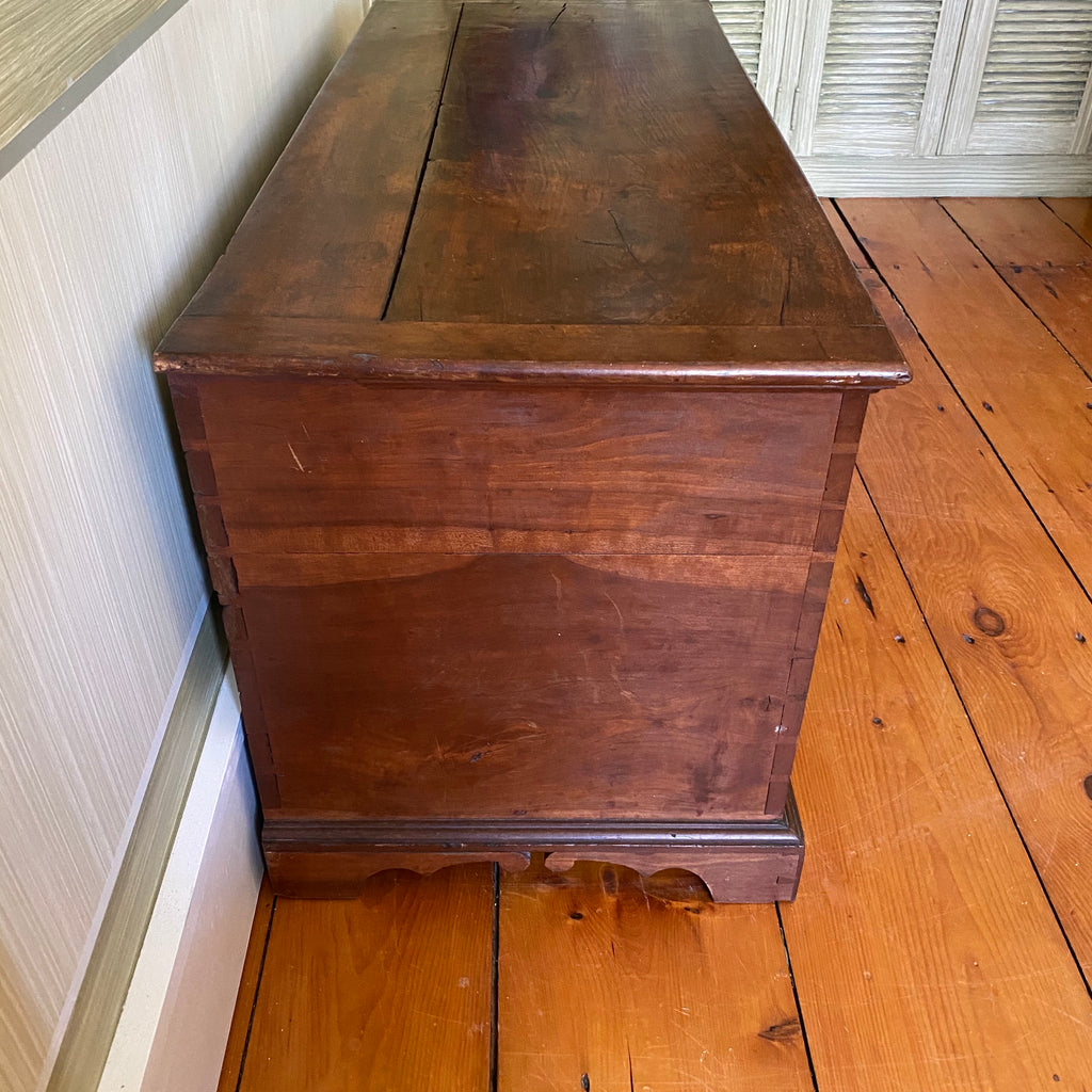 Late 18th Century Cherry Blanket Box