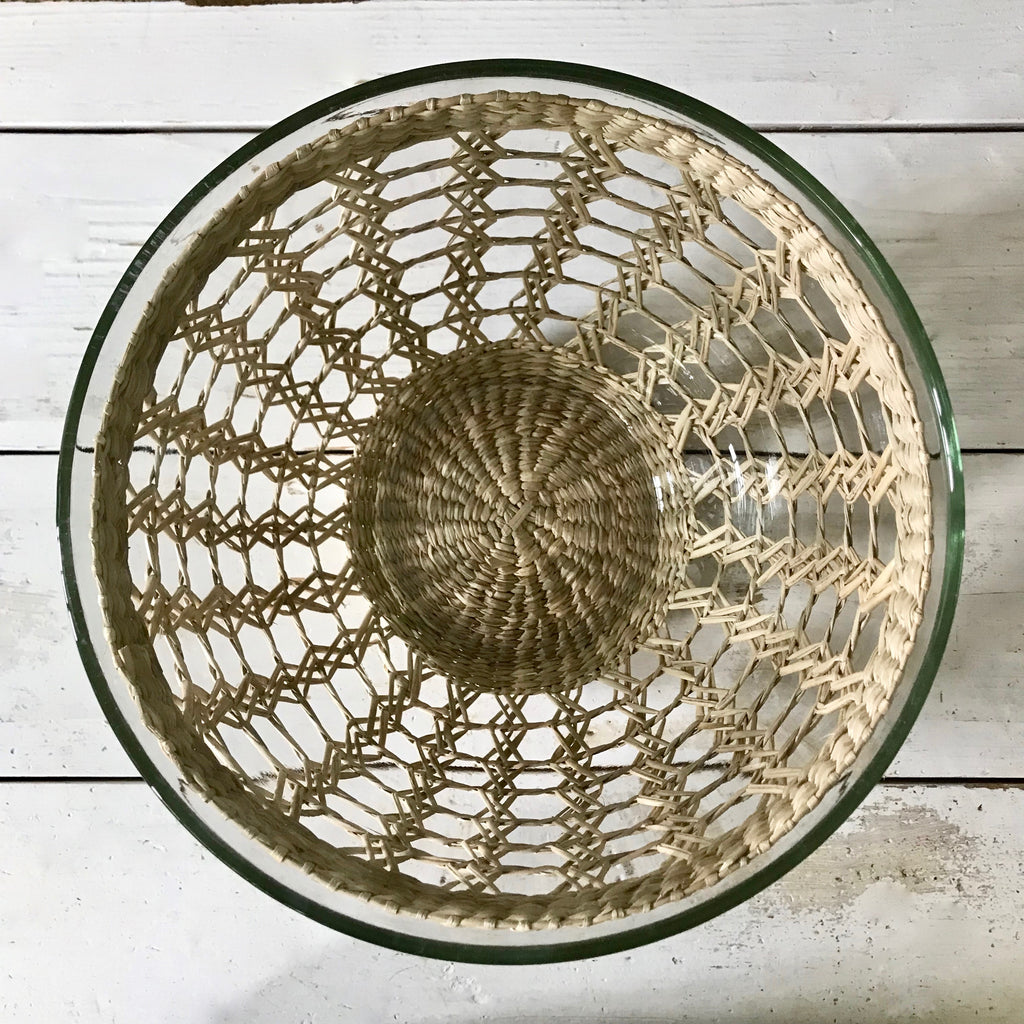 Large Seagrass Wrapped Serving Bowl