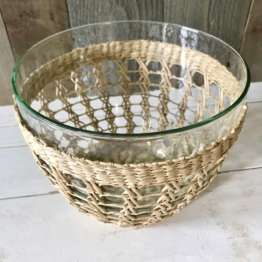 Medium Seagrass Wrapped Serving Bowl