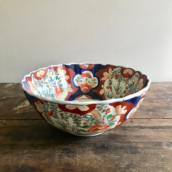 Antique Imari Serving Bowl