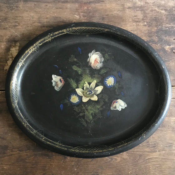 19th Century Papier Mache Serving Tray