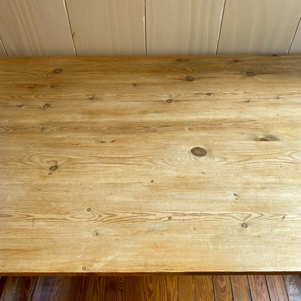 19th Century English Pine Farm Table