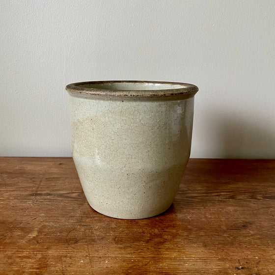 "Tapered 7"" High Stoneware Crock"