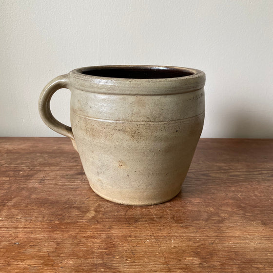 Antique Salt Glazed Apple Butter Crock