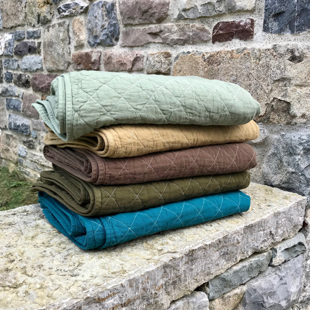 Quilted Canvas Throws