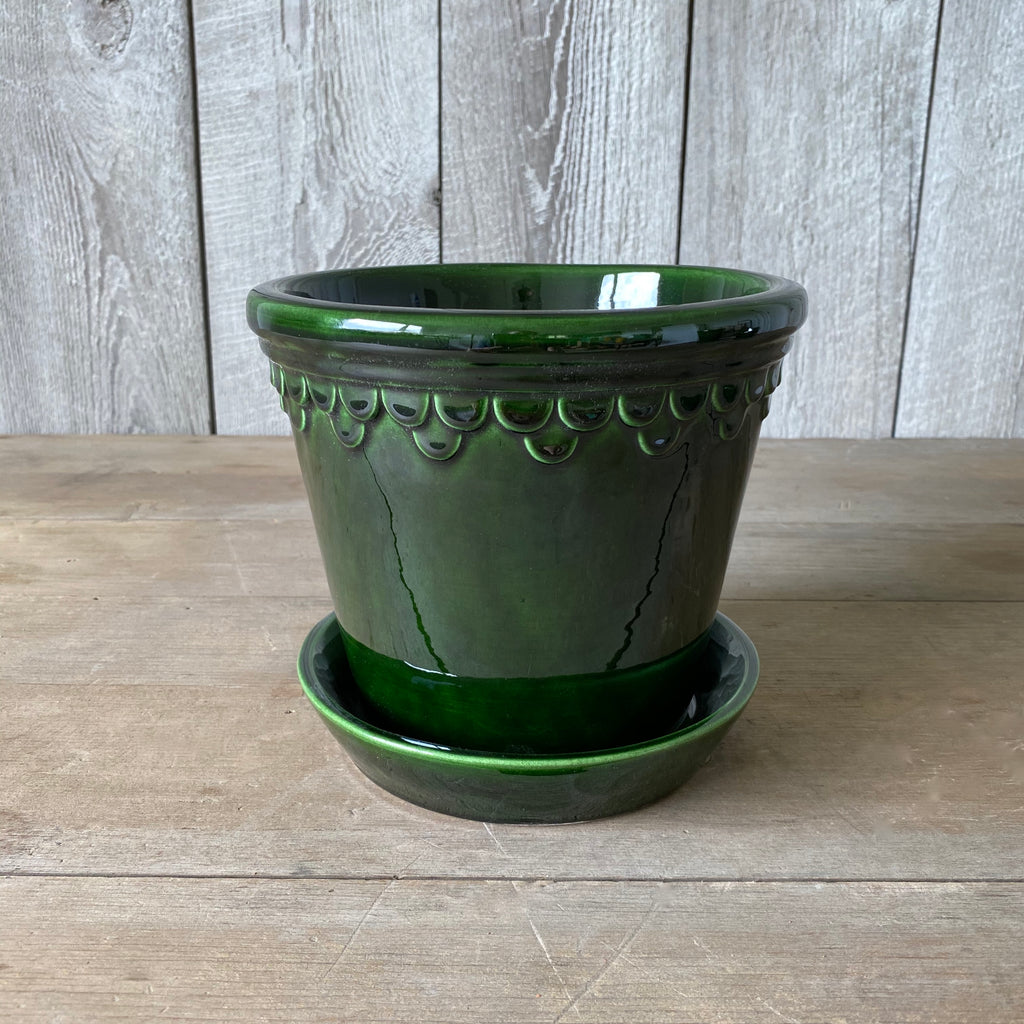 Green Glazed 16 cm pot