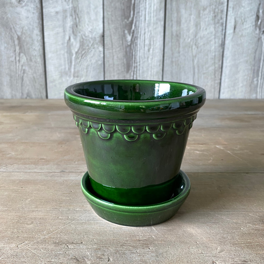 Green Glazed 12 cm pot