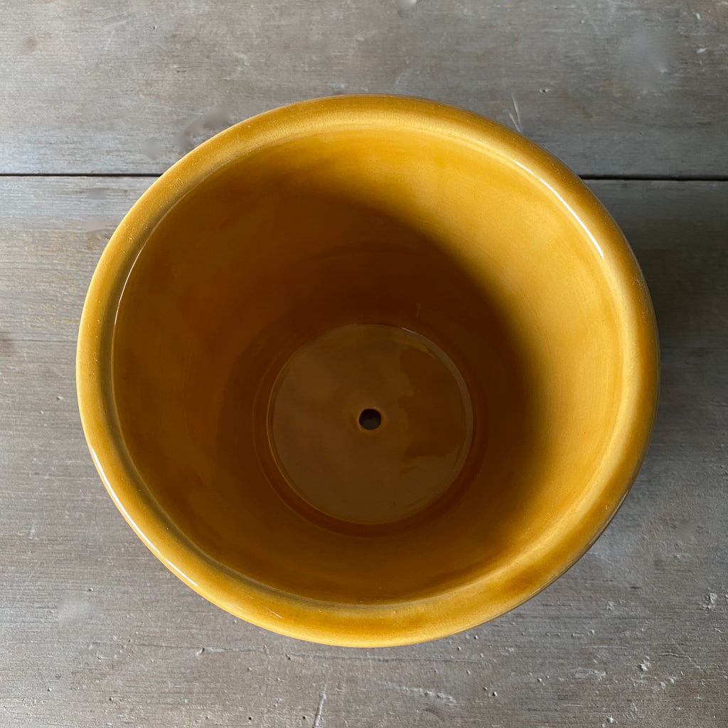 Danish Yellow Glazed Copenhagen Pot & Saucer