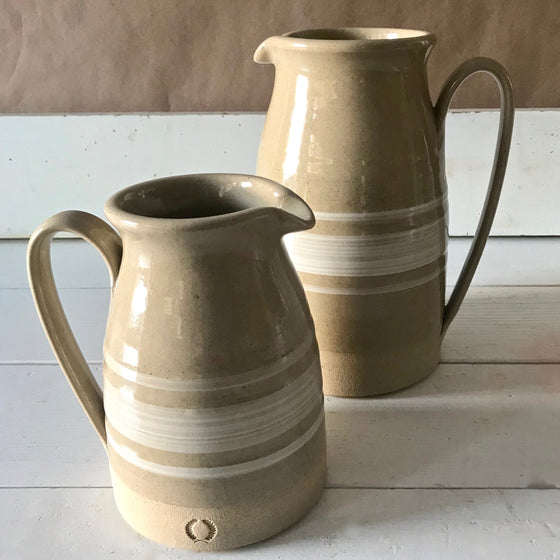 Modern Yellowware Pitchers from Farmhouse Pottery