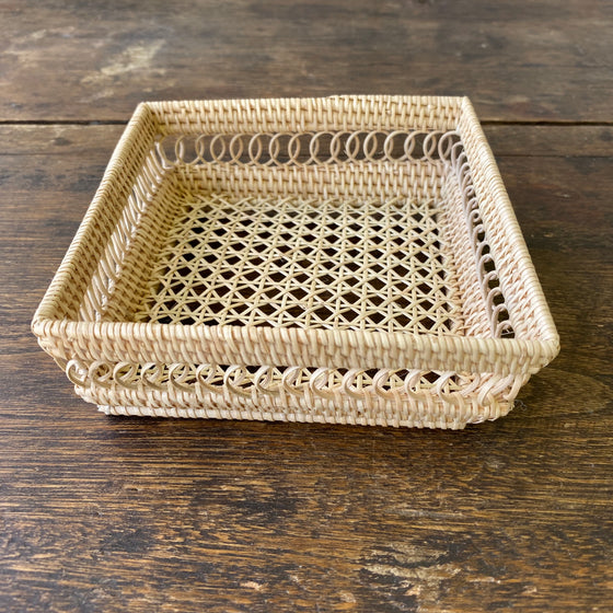 Small Square Reed Tray
