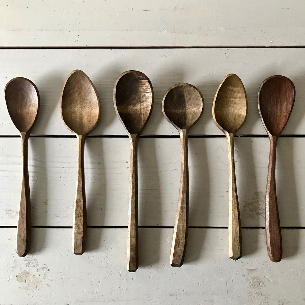 Handcarved Wooden Spoons - Poplar and Walnut