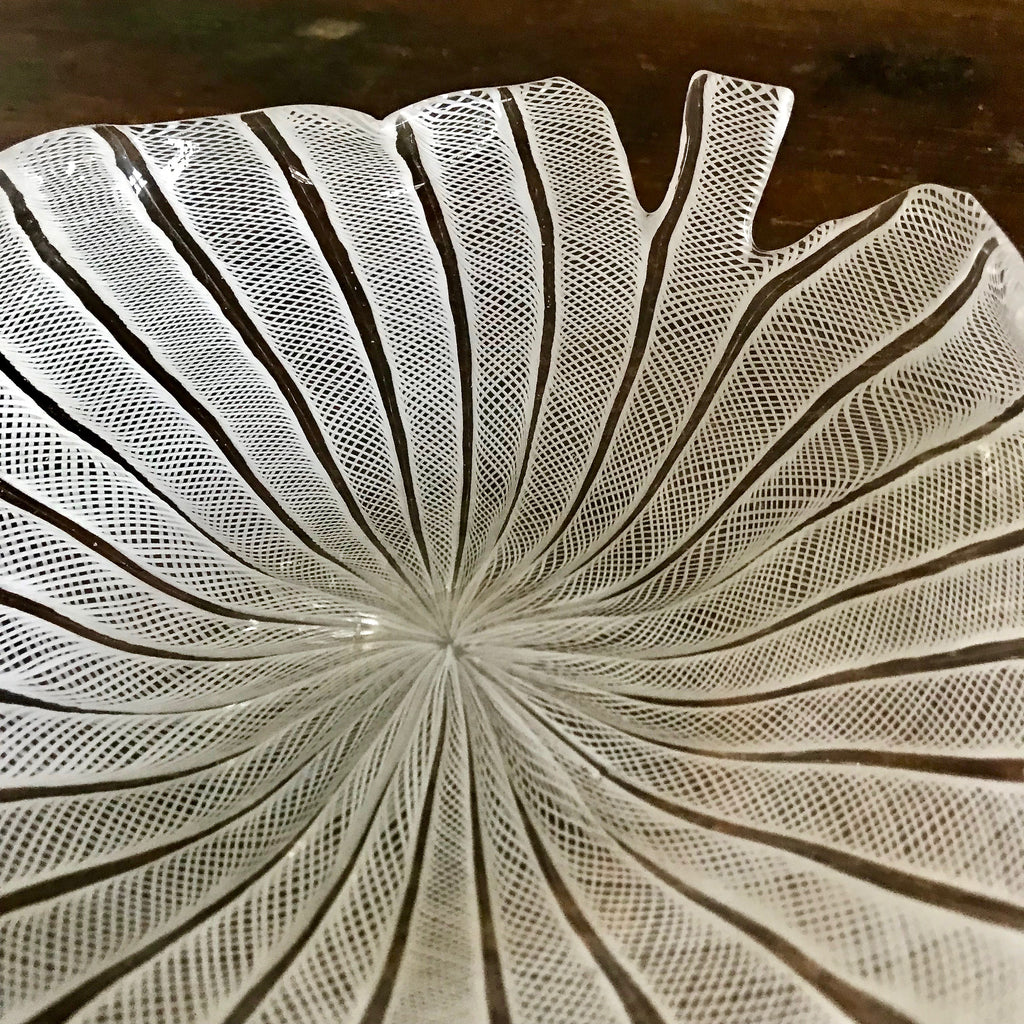 Vintage Murano Glass Leaf Dish