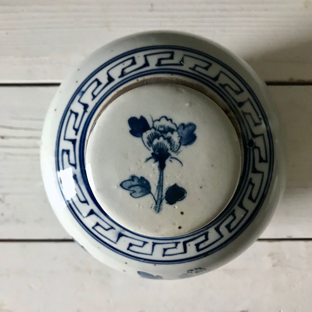 Chinese Porcelain Ginger Jar with Flowers