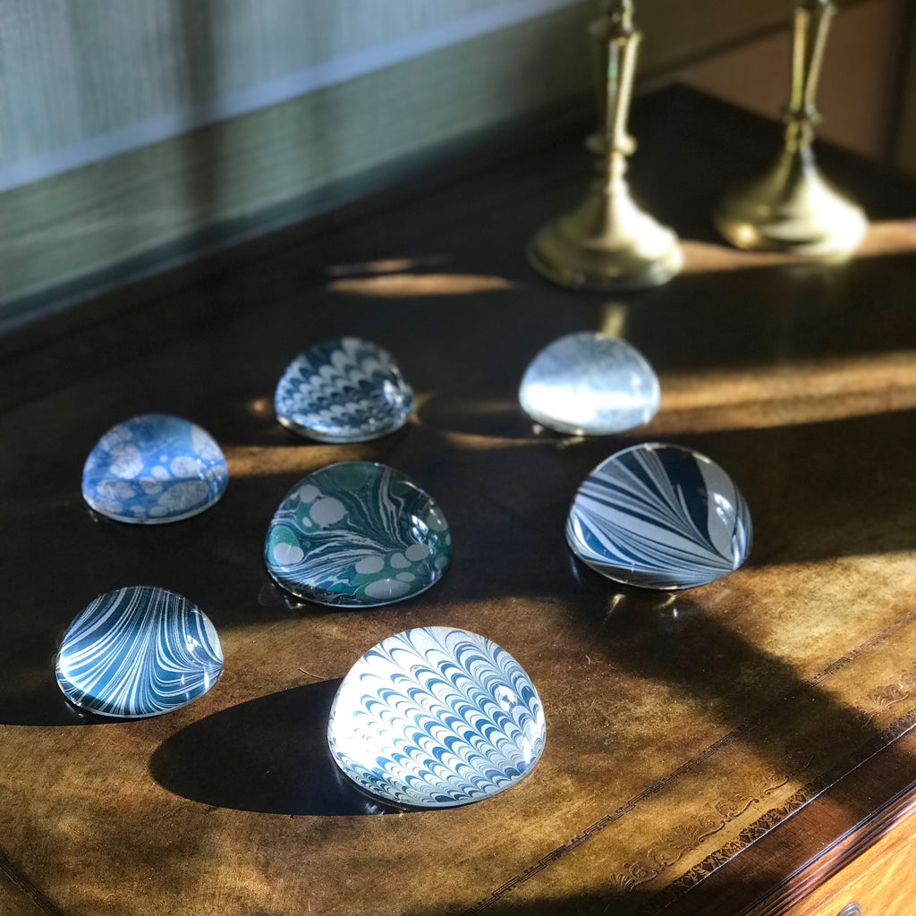 Olive Ripple Paperweights