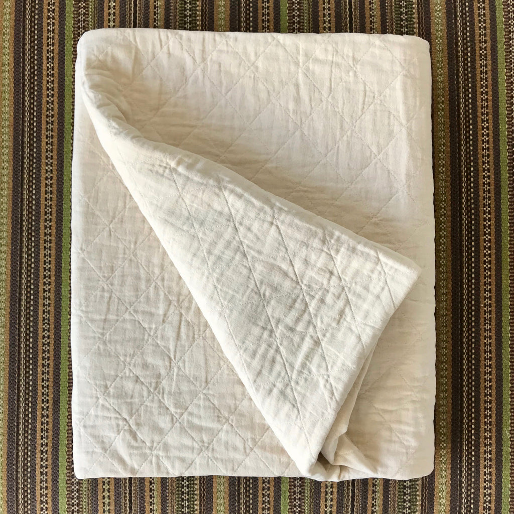 Natural Quilted Canvas Throw by Utility Canvas