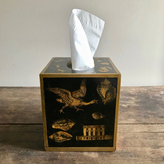19th Century Style Decoupage Tissue Box