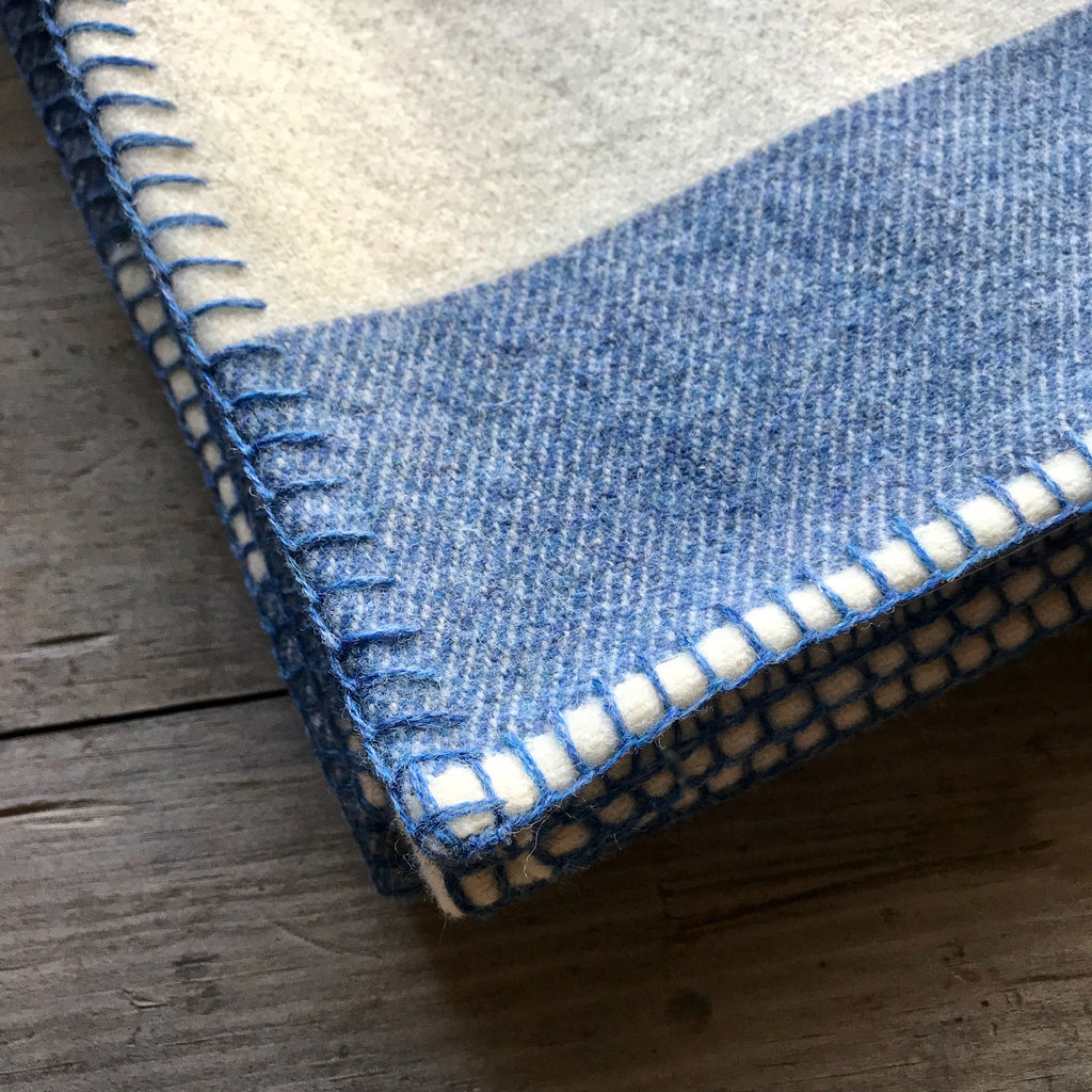 Broadstripe Welsh Throw in Blue