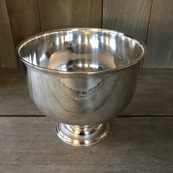 "Vintage 8"" Footed Hotel Silver Bowl"