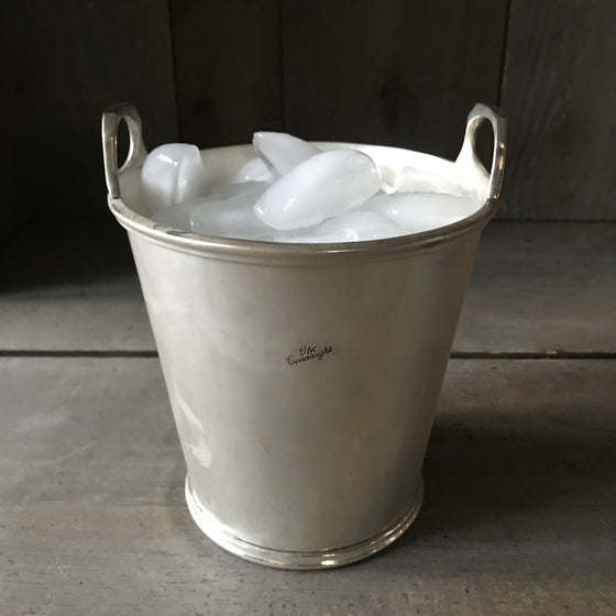 Small Vintage Hotel Silver Ice Bucket