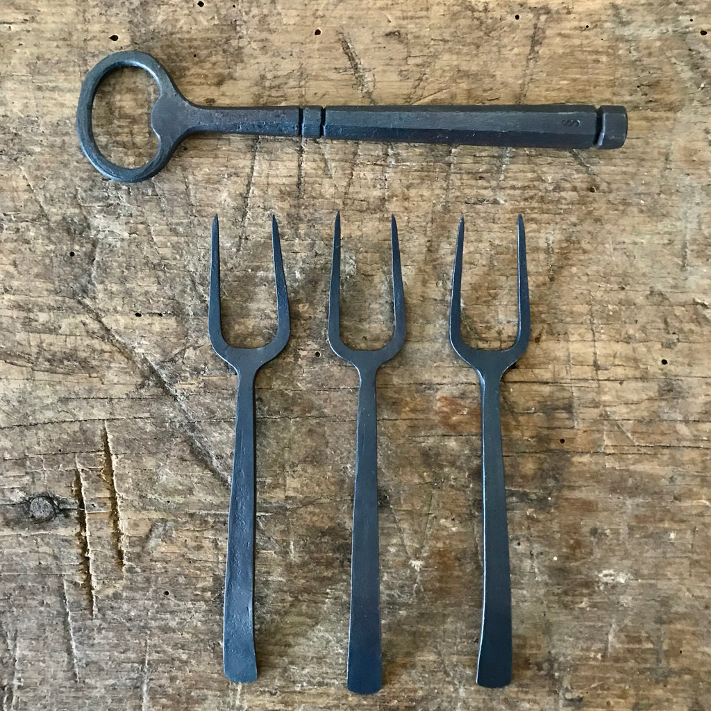 Hand-Forged Appetizer Forks