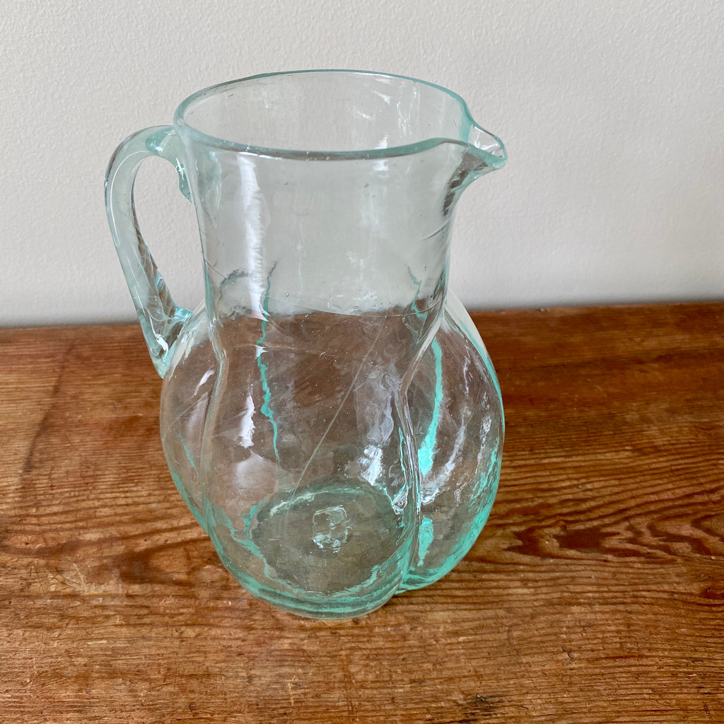 Art Deco Glass Carafe in Clear
