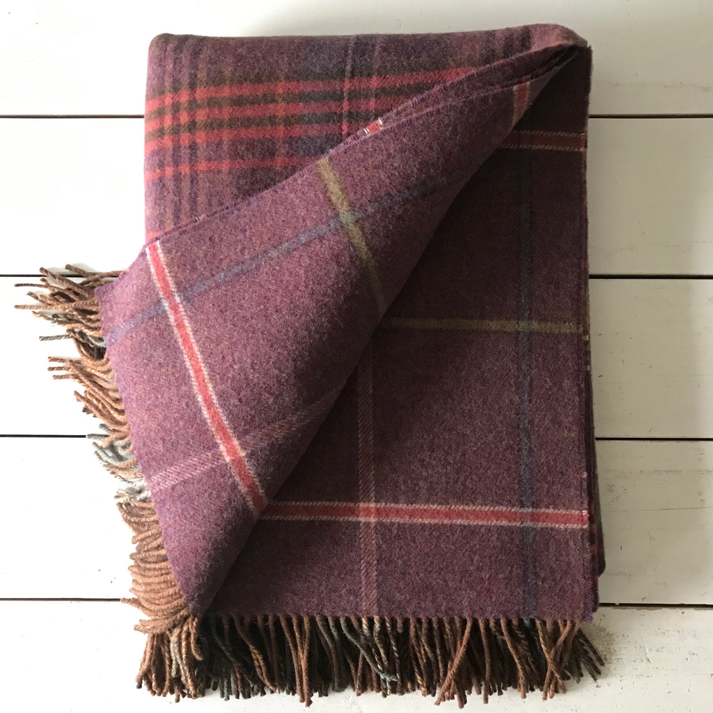 Clover Scottish Lambswool Double Face Throw