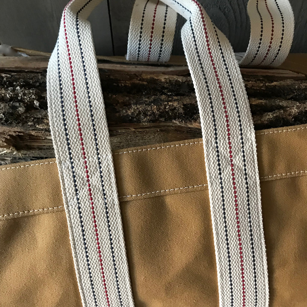 Tan Canvas Log Tote