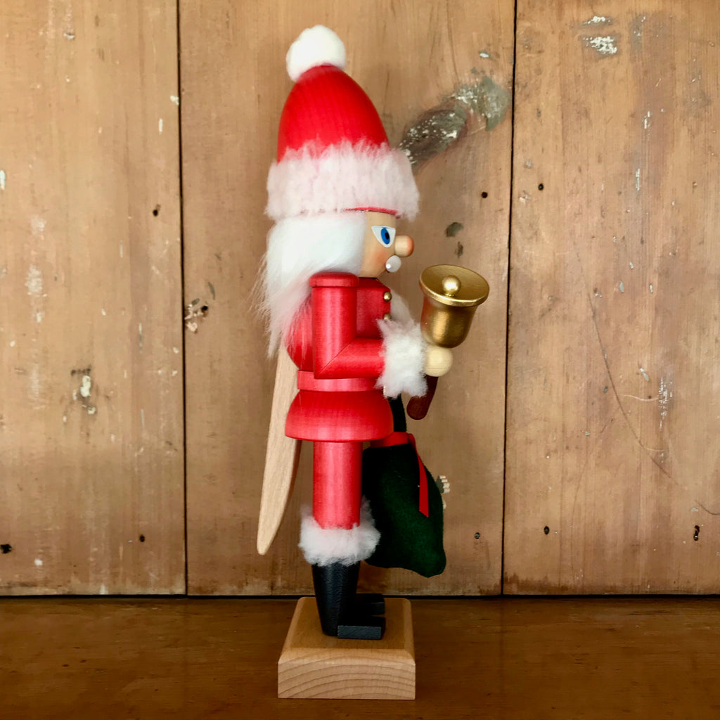 Red Santa Nutcracker with Bag