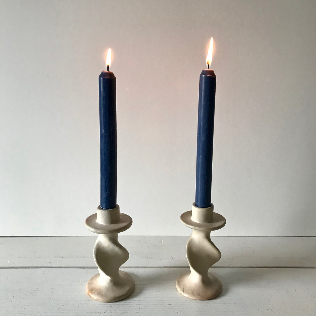 Ceramic Twist Candlesticks