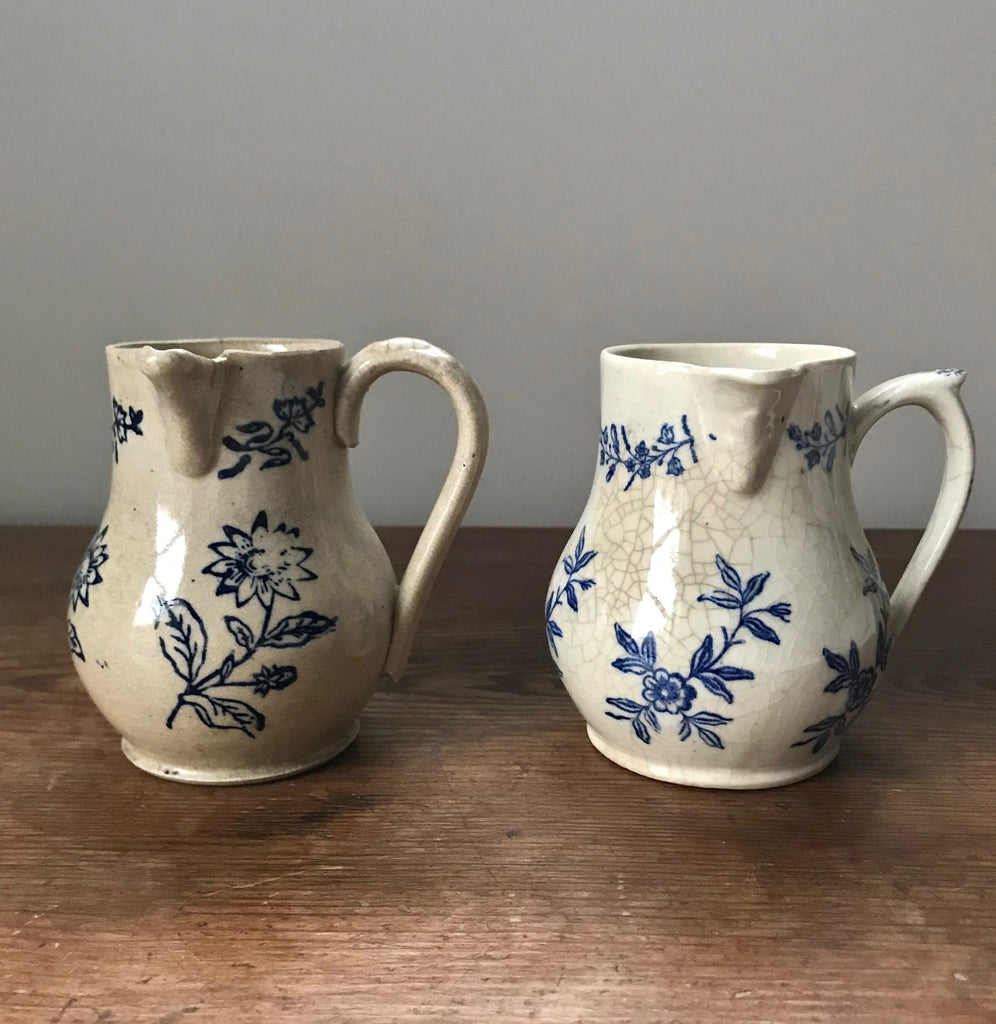 Antique French Creamers with Side Spouts