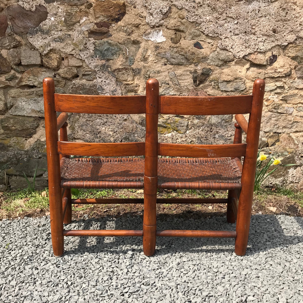 18th Century Ladder Back Wagon Seat
