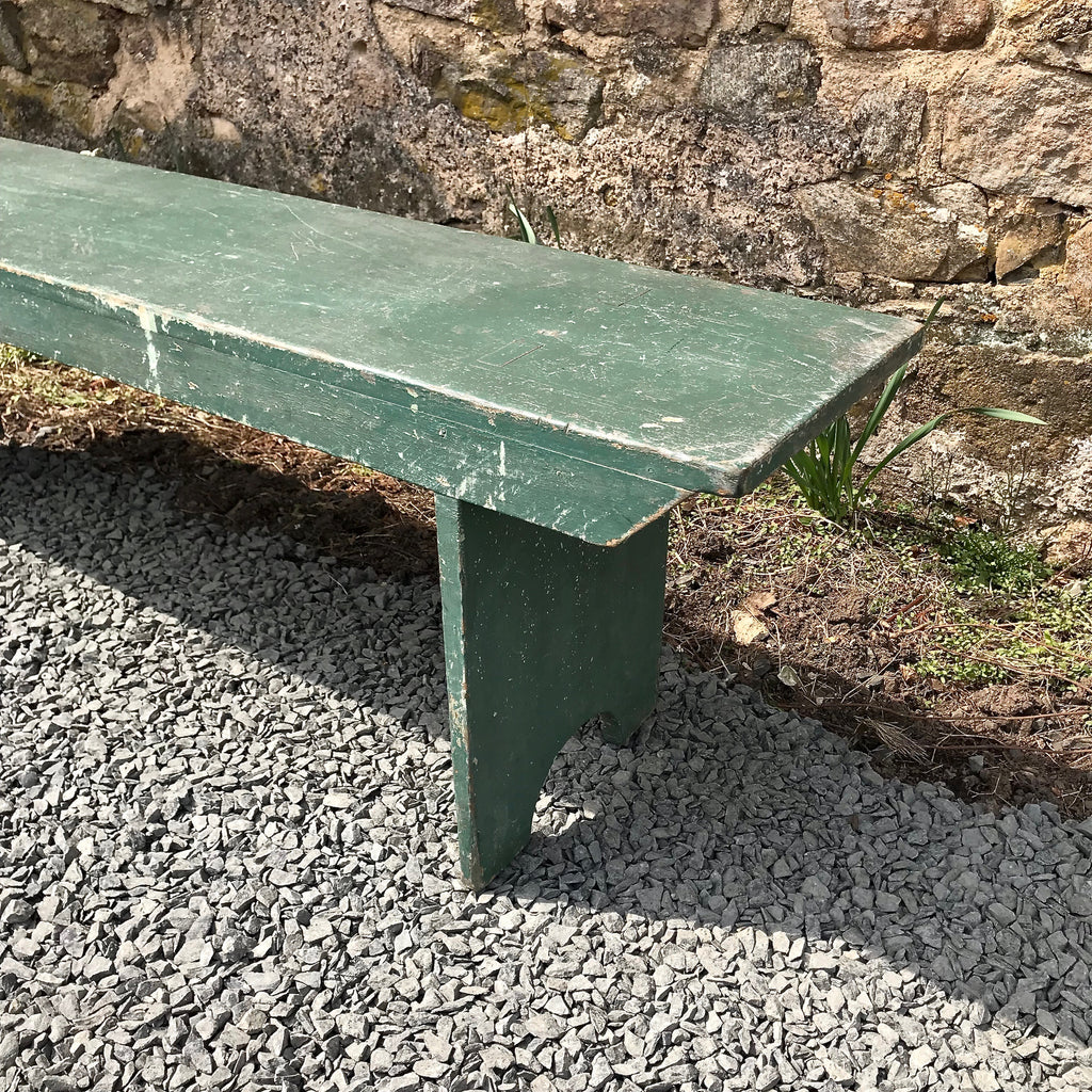 Green Painted Barn Bench