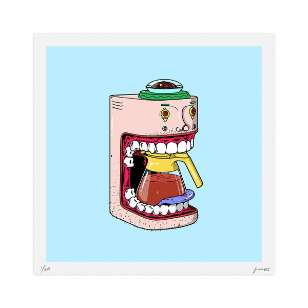 """Espresso Head"" Limited Print"