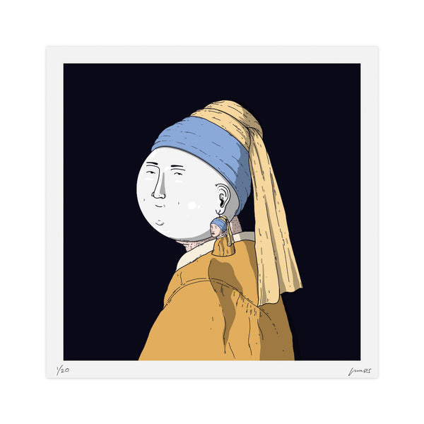 """The Pearl with the Girl Earring"" Limited Print"