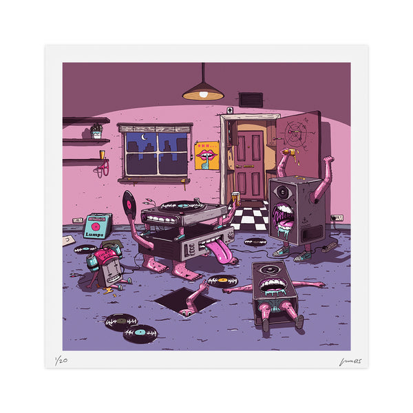 """Record Party"" Limited Print"